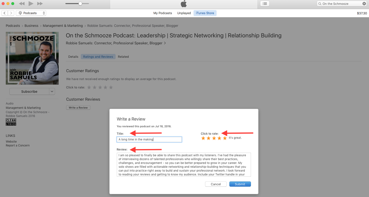 5 Steps to Subscribe, Rate & Review on Apple Podcasts